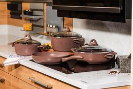 4Home 7dílná sada nádobí Granite Brown