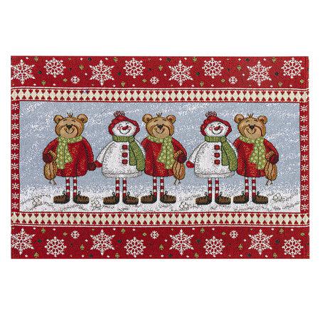 Macik karácsonyi alátét, 32 x 48 cm