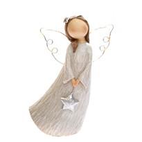 Anjel so svietiacimi krídlami, 14 cm