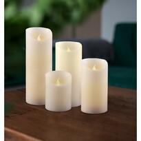 Sada voskových LED sviečok, 7,5 x 20 cm, 4 ks