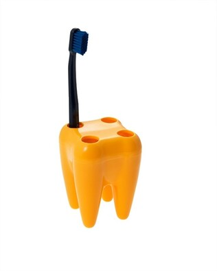 Držák kartáčků zub, žlutá