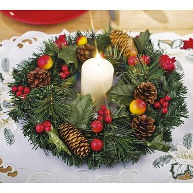 Dekorativní vánoční věnec, pr. 30 cm