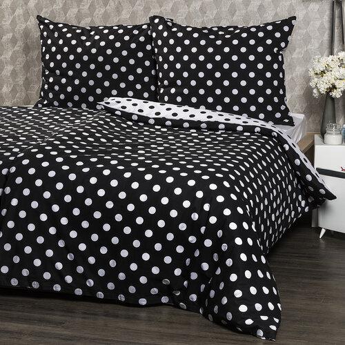 4Home Bavlnené obliečky Čierna bodka, 220 x 200 cm, 2 ks 70 x 90 cm
