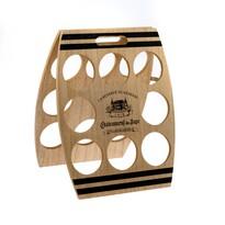 Drewniany stojak na 8 butelek wina, 30 x 38 x 1,8 cm