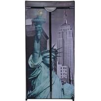 Textilní šatní skříň 75 x 160 x 45 cm, New York