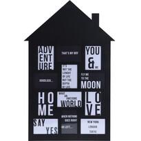 Fotorámeček na 12 fotografií My house černá, 52 x 82,5 cm