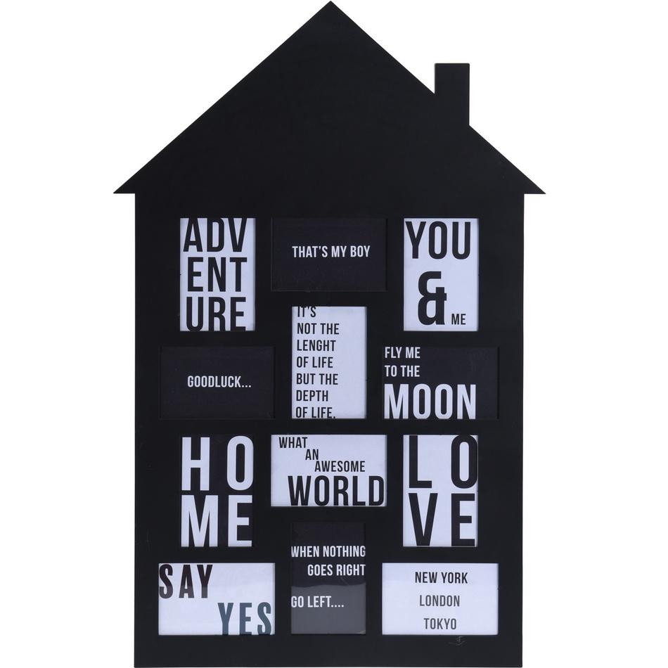 Koopman Fotorámeček na 12 fotografií My house černá, 52 x 82,5 cm