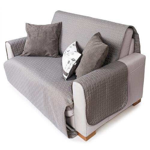 4Home Prehoz na sedaciu súpravu Doubleface sivá/svetlosivá, 180 x 220 cm