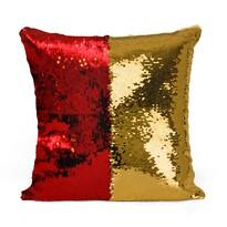 Domarex Flippy flitteres párna, piros, 40 x 40 cm