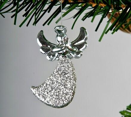 Závěsná dekorace anděl, 3 kusy
