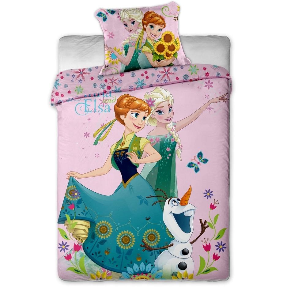 Jerry Fabrics Dětské bavlněné povlečení Ledové království sweet pink 140x200 70x90