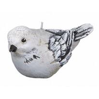 Dekorativní svíčka ptáček, šedá