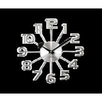 Nástenné hodiny Lavvu Design Numerals LCT1040  strieborná, pr. 37 cm