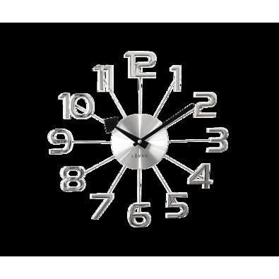 Nástěnné hodiny Lavvu Design Numerals LCT1040  stříbrná, pr. 37 cm