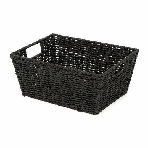 Compactor Ručně pletený košík ETNA, 31 x 24 x 14 cm, černá