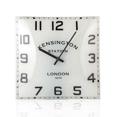Nástěnné hodiny skleněné, bílé