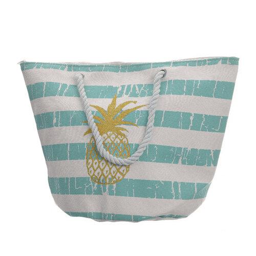 Plážová taška Pineapple modrá, 35 x 38 cm
