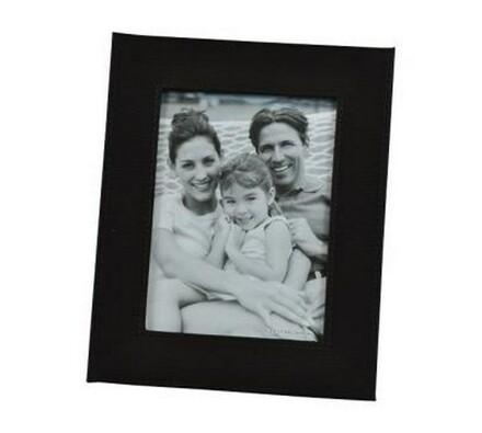 StarDeco fotorámček kožený 15 x 20 cm čierny
