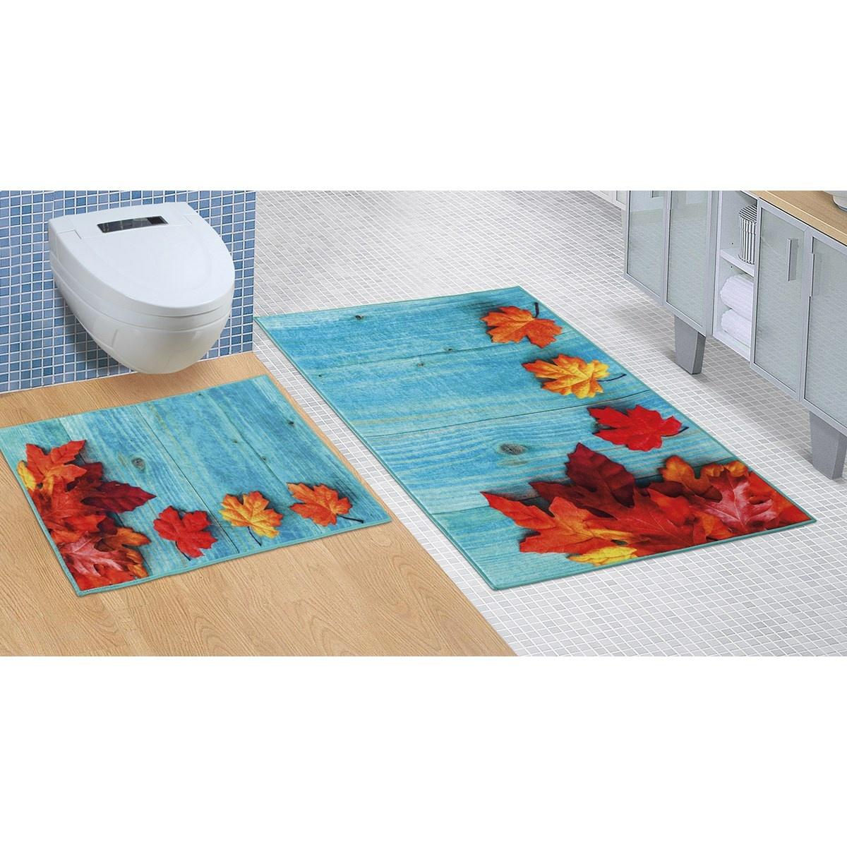 Bellatex Koupelnová sada bez výkroje Javorový list, 60 x 100 cm, 60 x 50 cm