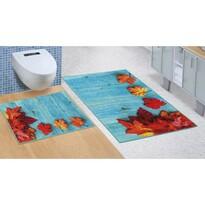 Juharlevél fürdőszobai készlet kivágás nélkül, 60 x 100 cm, 60 x 50 cm