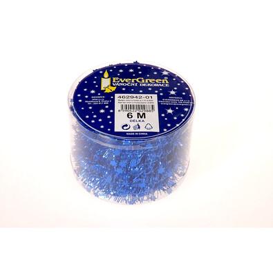Řetěz mini s hvězdami, modrý, 600 cm, modrá