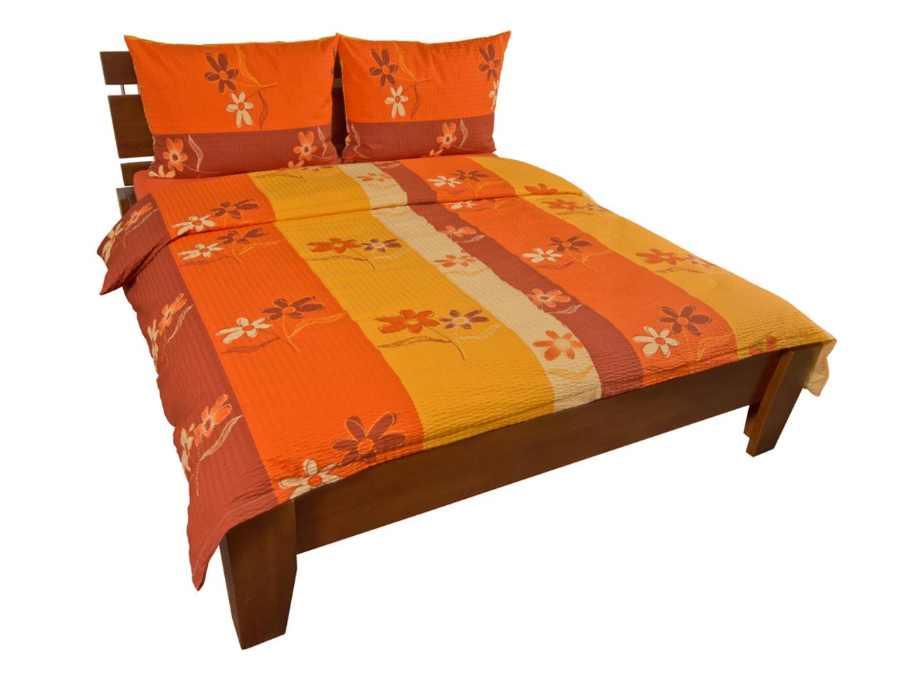 Kvalitex Krepové obliečky kvit terra, 140 x 220 cm, 70 x 90 cm