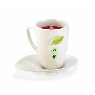 Tescoma Hrnek na čaj s podšálkem 400 ml