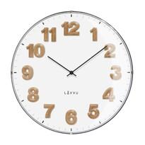 Lavvu LCT4030 nástěnné hodiny Harmony bílá, pr. 30 cm