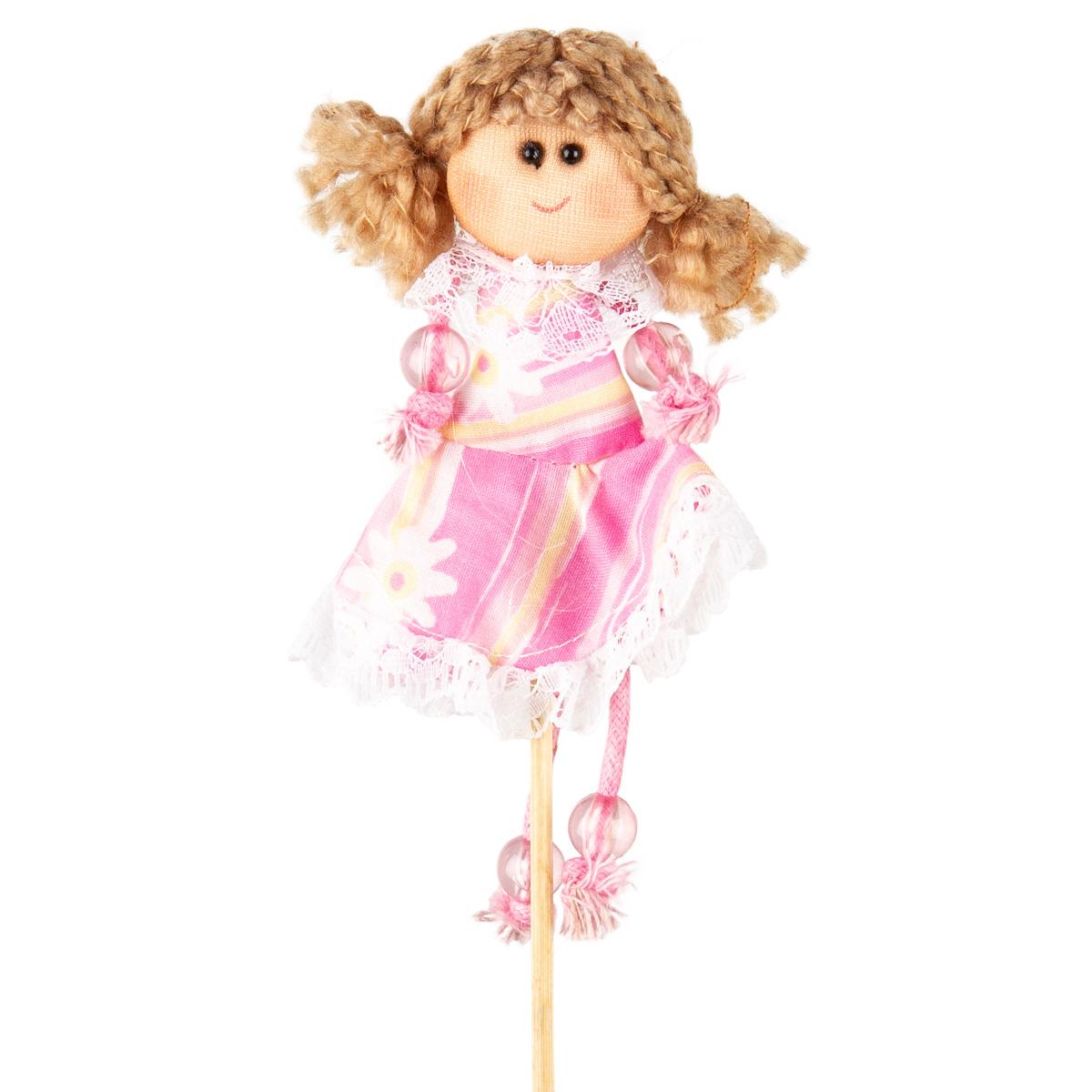 Zápich Panenka růžová, 39 cm