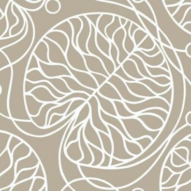 Tapeta Bottna 70 x 100 cm, hnědá/bílá