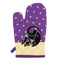 Mănușă cu magnet Pisică violet, 17 x 27 cm