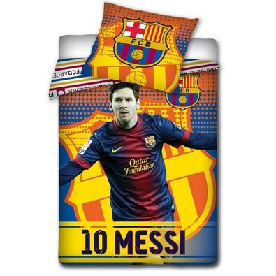 Bavlněné povlečení FCB Messi 2014, 140 x 200 cm, 70 x 80 cm