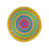 Plážová osuška okrúhla Fancy Flower, 150 cm