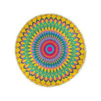 Ręcznik plażowy okrągły Fancy Flower, 150 cm