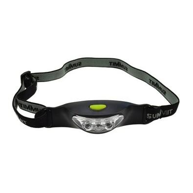 Solight čelová LED svítilna,černo-šedá