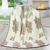 DUO Rózsa ausztráliai merinó gyapjú takaró, 155 x 200 cm