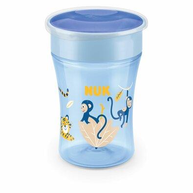 NUK hrnček Magic Cup s viečkom 230 ml, modrá