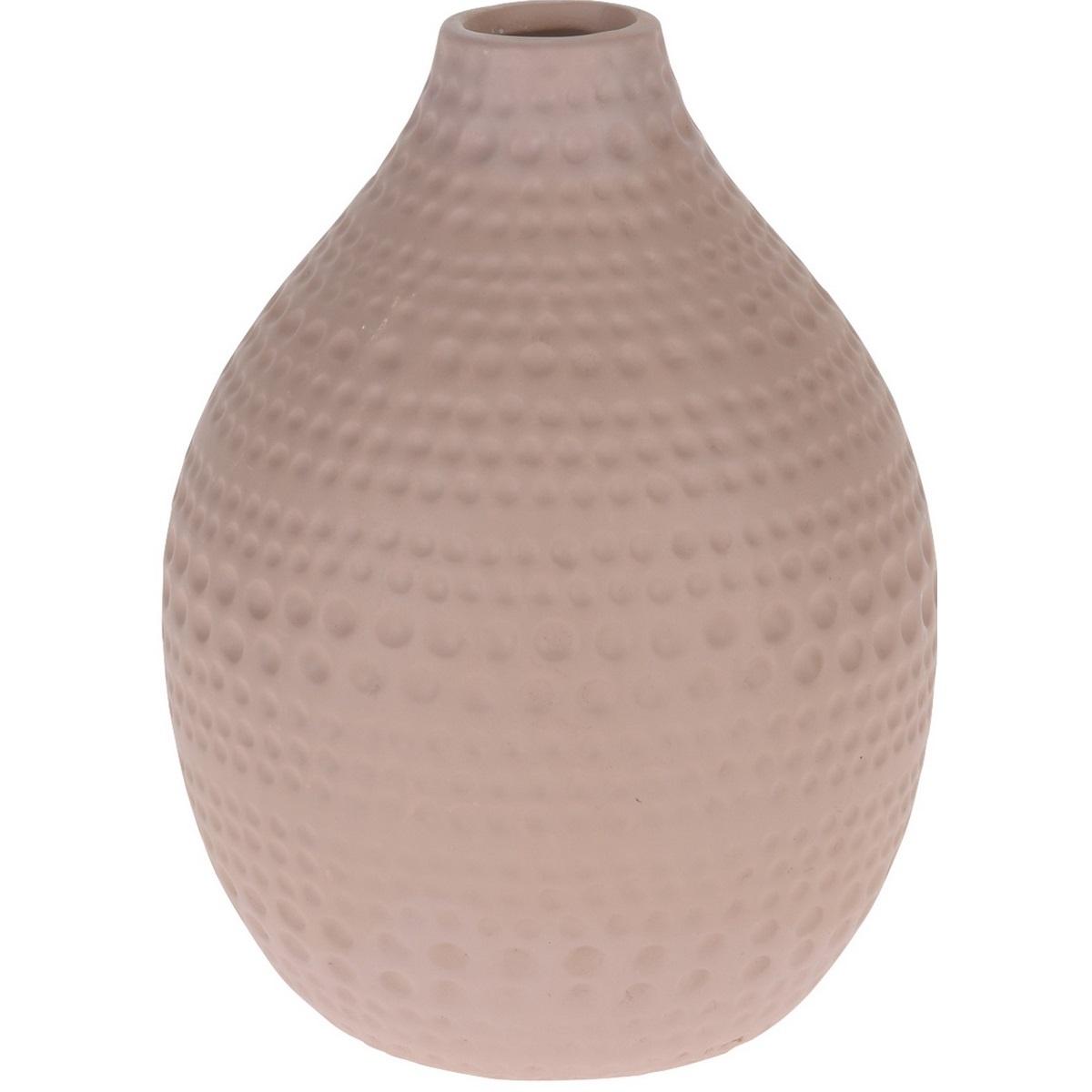 Koopman Keramická váza Asuan růžová, 17,5 cm