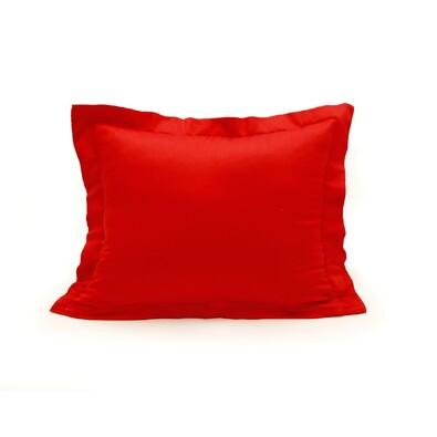 Povlak na polštářek s lemem satén červená, 50 x 70 cm