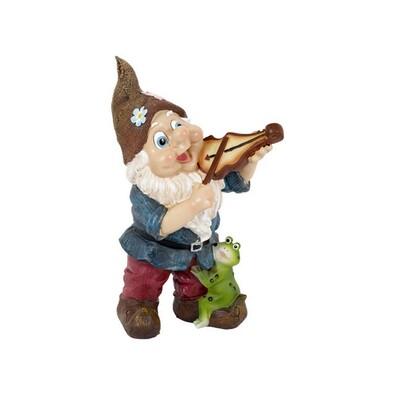 Dekorativní trpaslík hrajíci na housle