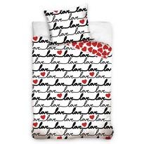 Bavlněné povlečení Love, 140 x 200 cm, 70 x 90 cm