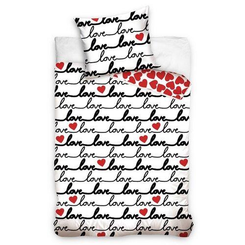 Bavlnené obliečky Love, 140 x 200 cm, 70 x 90 cm