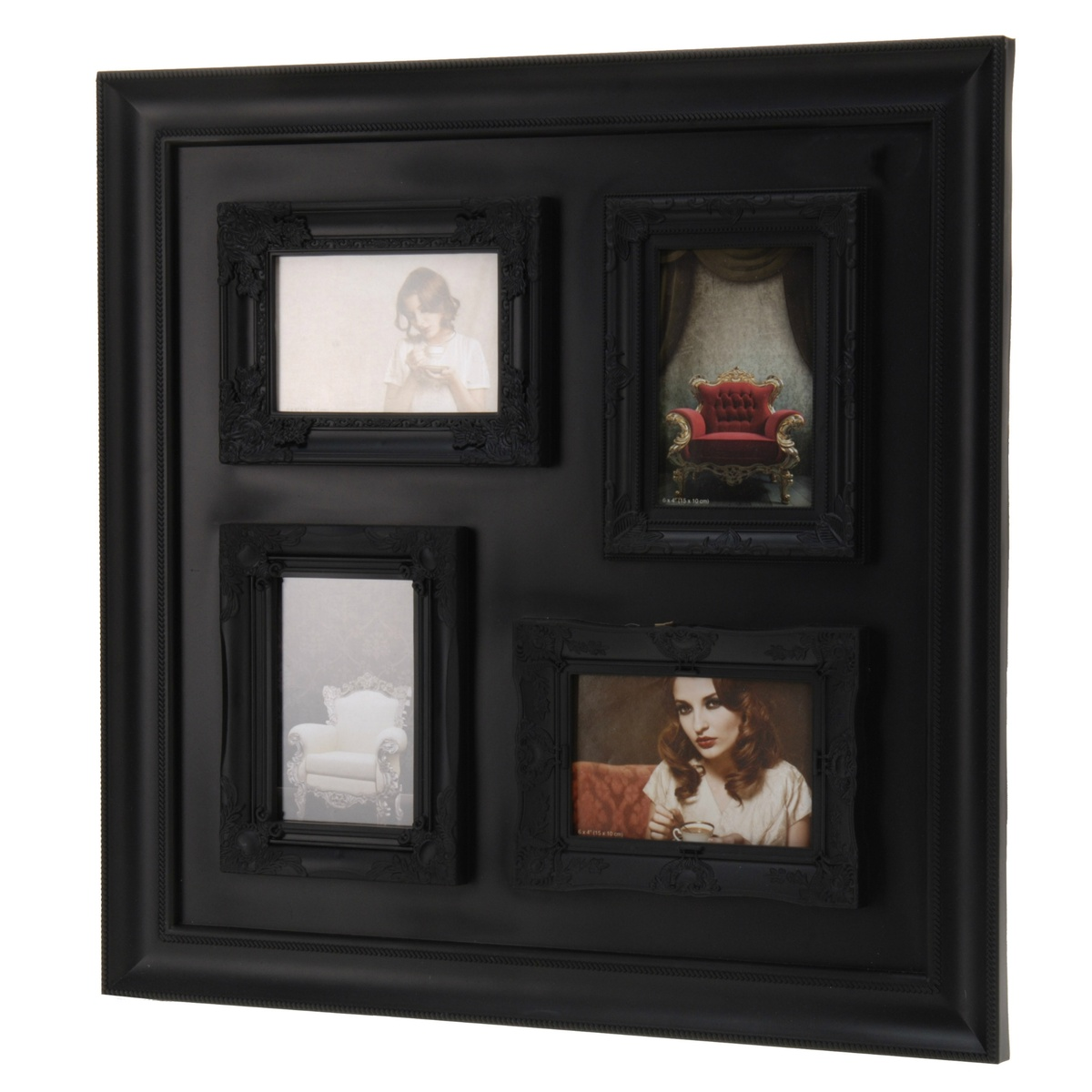 Fotorámeček na 4 fotografie černá,
