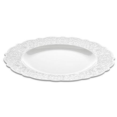 Alessi Plytký tanier Dressed 27,3 cm, biely