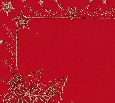 Vánoční ubrus s potiskem, červená, 85 x 85 cm