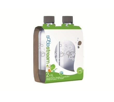 Sodastream plastová láhev 1l GREY Duo Pack, transparentní