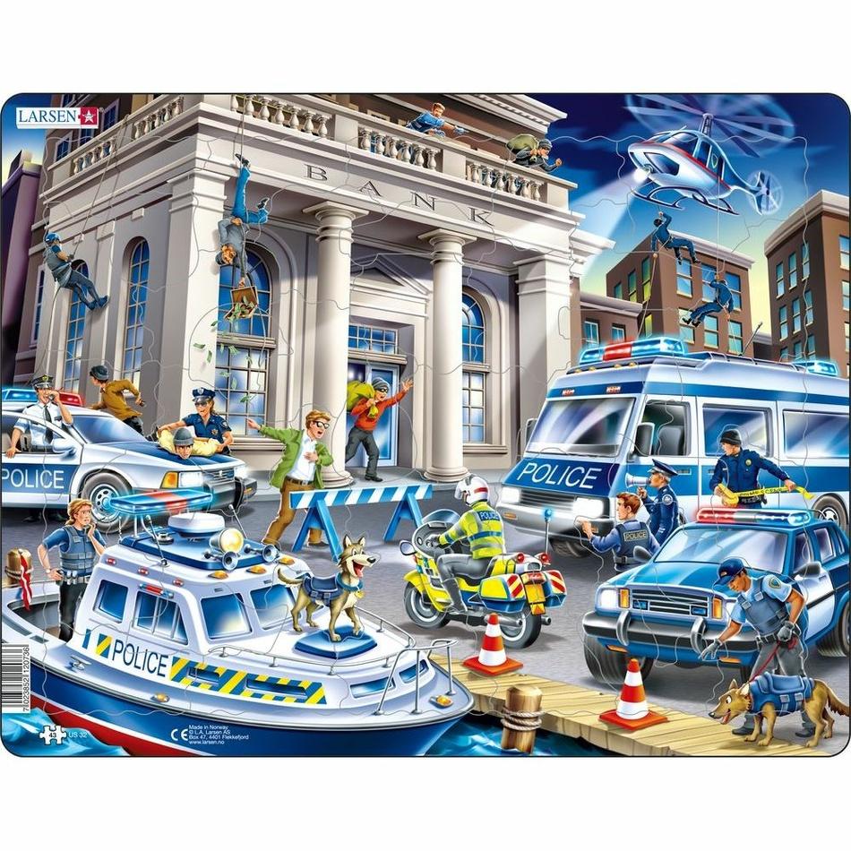 Larsen Puzzle Polícia u lúpeže, 43 dielikov