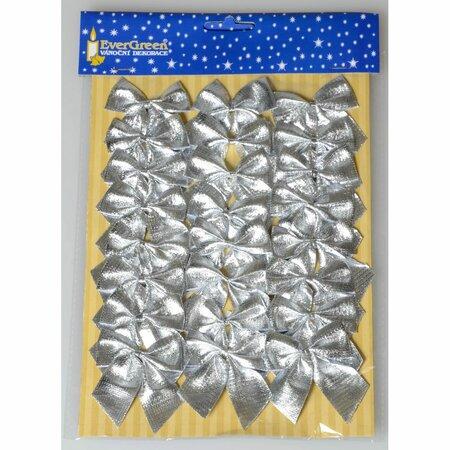 Mašle stříbrná 5,5 cm, 24 ks