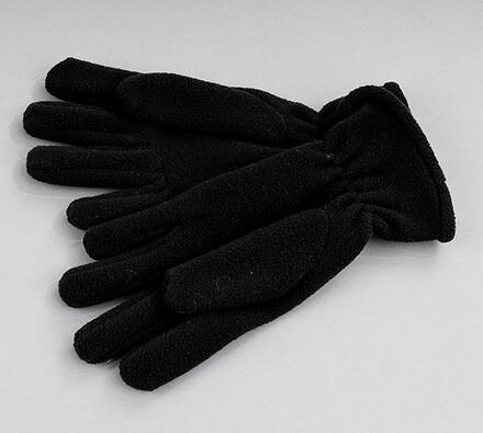 Set fleece rukavice a šála Karpet 5686/7, černá