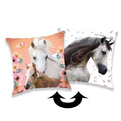 Jerry Fabrics Povlak na polštářek s flitry Horse square, 40 x 40 cm